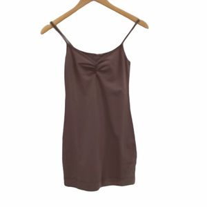 NWT LA Made taupe, brown stretchy slip dress